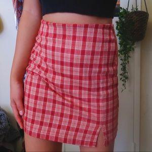 brandy Melville plaid skirt!!